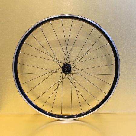 Paire de roues aluminium mixte 27 mm pour vélo de route