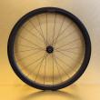 Paire de roues carbone 45 mm pour vélo de course