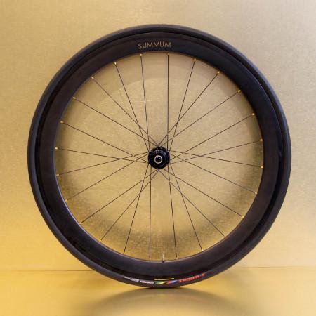 Paire de roues carbone route 50 mm