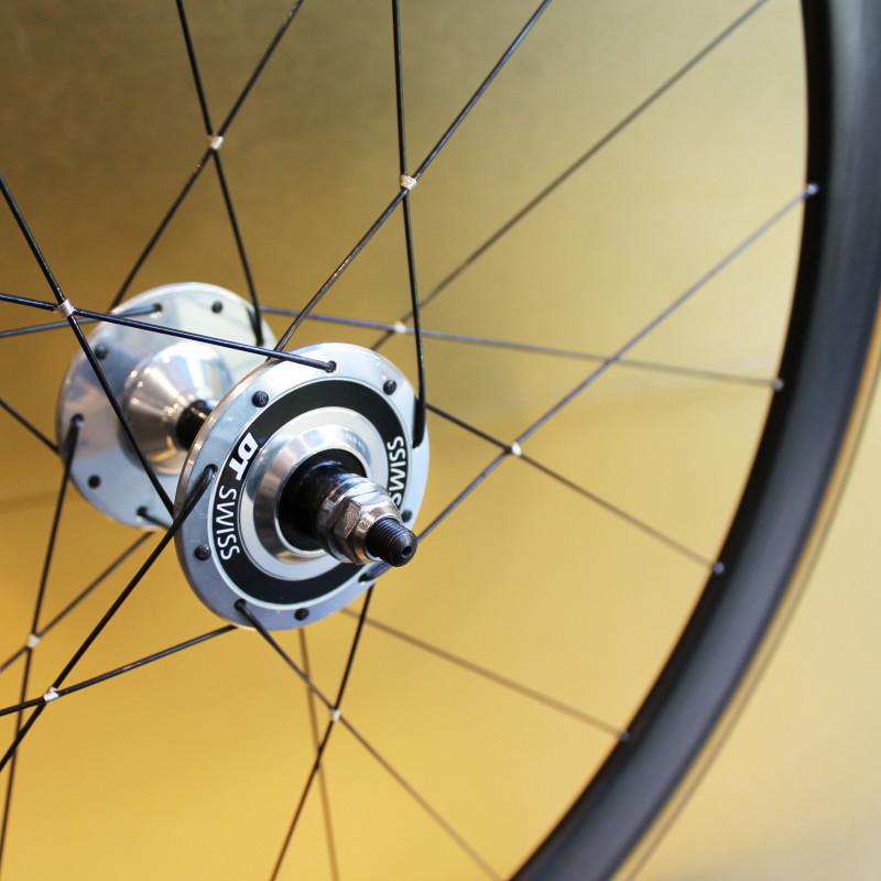 Paire de roues carbone piste 50 mm