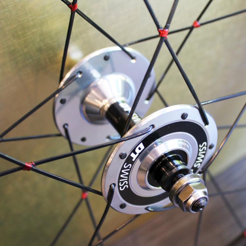 Paire de roues carbone piste 55 mm
